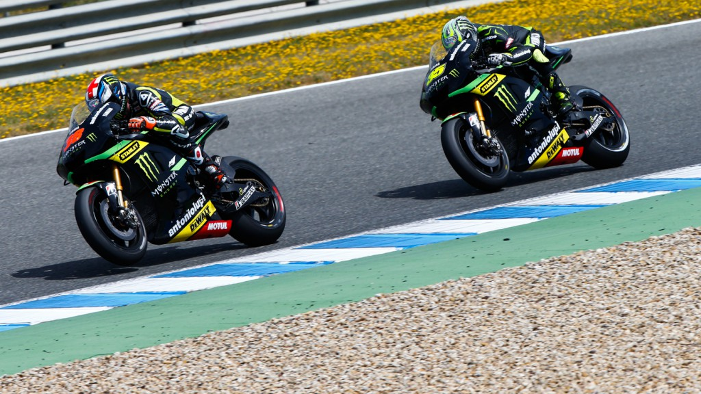 Bradley Smith, Cal Crutchlow, Monster Yamaha Tech 3, Jerez Test