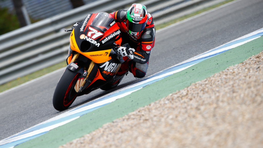 Claudio Corti, NGM Mobile Forward Racing, Jerez Test
