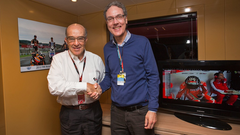 Carmelo Ezpeleta, Urs Leutert - Dorna Sports & Swiss TV agreement