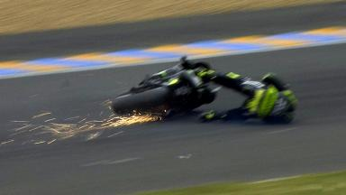 Le Mans 2013 - MotoGP - FP4 - Action - Cal Crutchlow - crash
