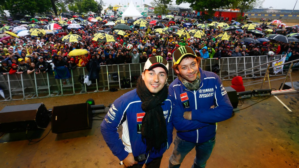 Jorje Lorenzo, Valentino Rossi, Yamaha Factory Racing, Le Mans