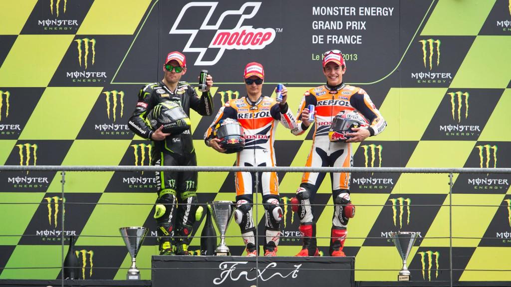 Crutchlow, Pedrosa, Marquez, Monster Yamaha Tech 3, Repsol Honda TEam, Le Mans RAC