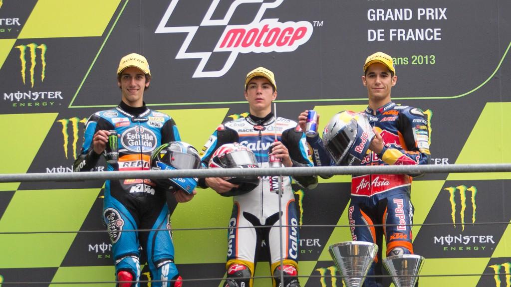 Rins, Viñales, Salom, Estrella Galicia 0,0, Team Calvo, Red Bull KTM Ajo, LE Mans RAC