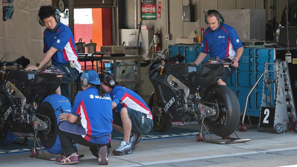Suzuki MotoGP Test, Motegi © Shigeo Kibiki