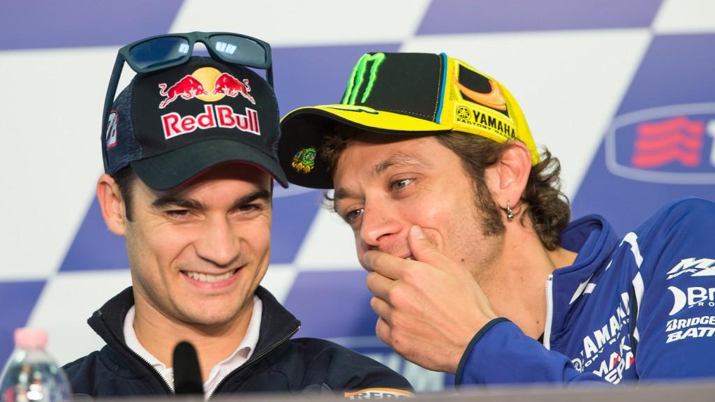Dani Pedrosa, Valentino Rossi, Gran Premio D´Italia TIM Press Conference