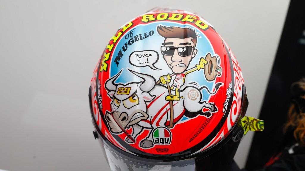 Iannone´s Helmet, Mugello