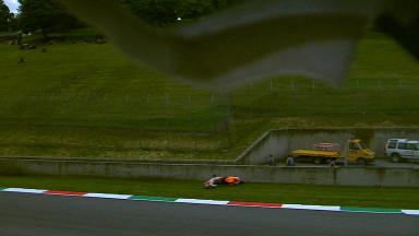 Marquez's FP2 accident: Side angle