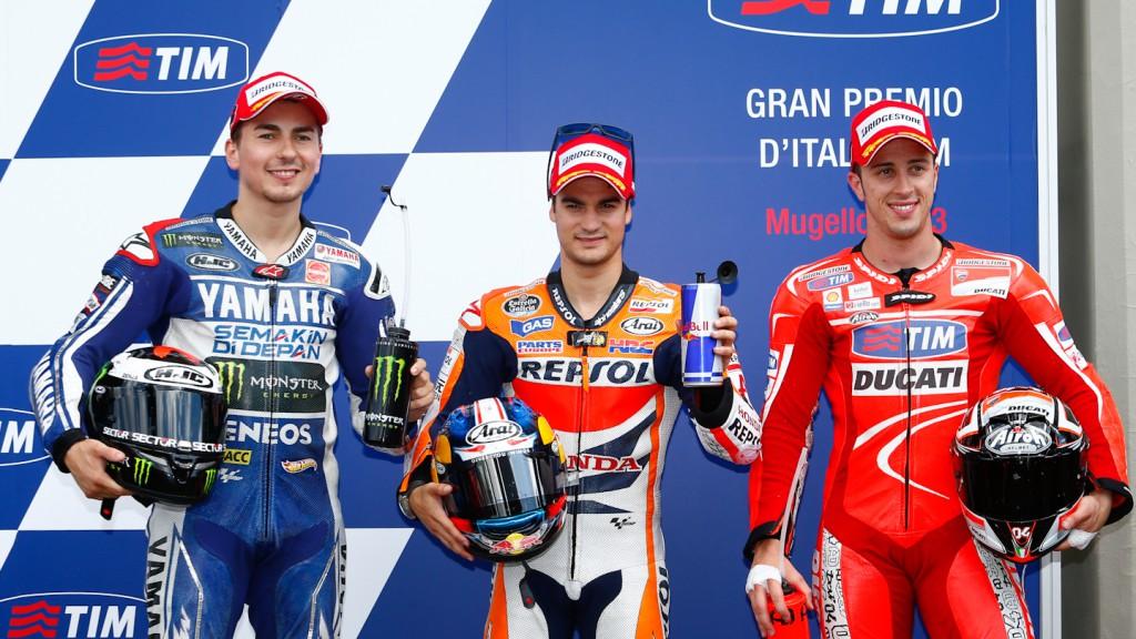 Lorenzo, Pedrosa, Dovizioso, Yamaha Factory Racing, Repsol Honda Team, Ducati Team, Mugello Q2