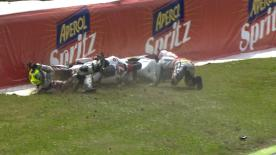 Mugello 2013 - Moto2 - RACE - Action - Rafid Topan Sucipto and Doni Tata Pradita - Crash