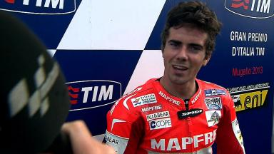Mugello 2013 - Moto2 - RACE - Interview - Nicolas Terol