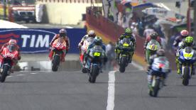 Jorge Lorenzo started as he meant to continue by topping the Sunday morning Warm-Up session ahead of the Gran Premio d'Italia TIM. The Yamaha Factory Racing rider led Monster Yamaha Tech 3's Cal Crutchlow and Repsol Honda Team's Marc Marquez, with pole-sitter Dani Pedrosa in fifth position.