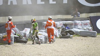 Bautista post Crash, Mugello RAC