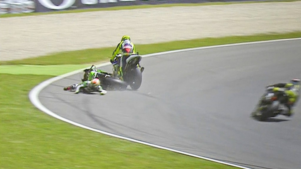 Rossi & Bautista Crash, Mugello RAC