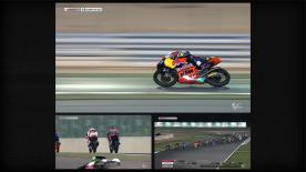 Luis Salom has triumphed in an action-packed first Moto3™ race of 2013, winning the Commercial Bank Grand Prix of Qatar. In a five-rider battle, Maverick Viñales sealed second place from Álex Rins, Álex Márquez and Jonas Folger.