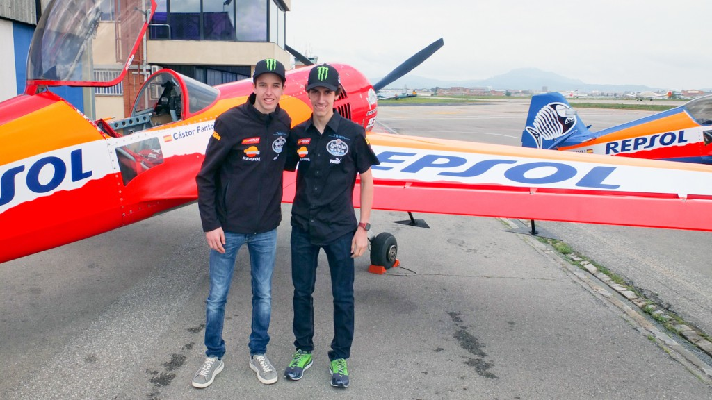 Rins and Marquez fly over Montmelo ahead of GP weekend