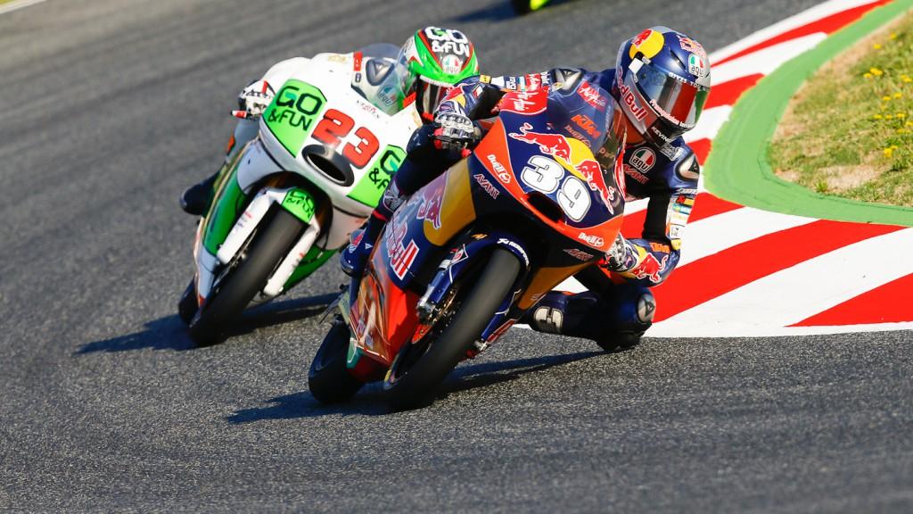 Luis Salom, Antonelli Niccolò, Red Bull KTM Ajo, GO&FUN Gresini Moto3, Montmelo FP2