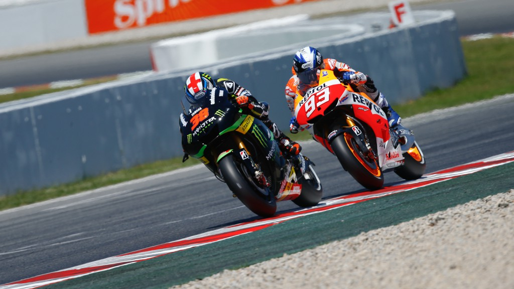 Bradley Smith, Marc Marquez, Monster Yamaha Tech 3, Repsol Honda MotoGP, Montmelo Q2