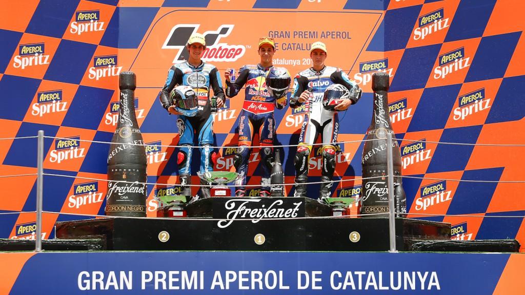 Alex Rins, Luis Salom, Maverick Viñales, Estrella Galicia 00,0, Red Bull KTM Ajo, Team Calvo, Montmelo RAC