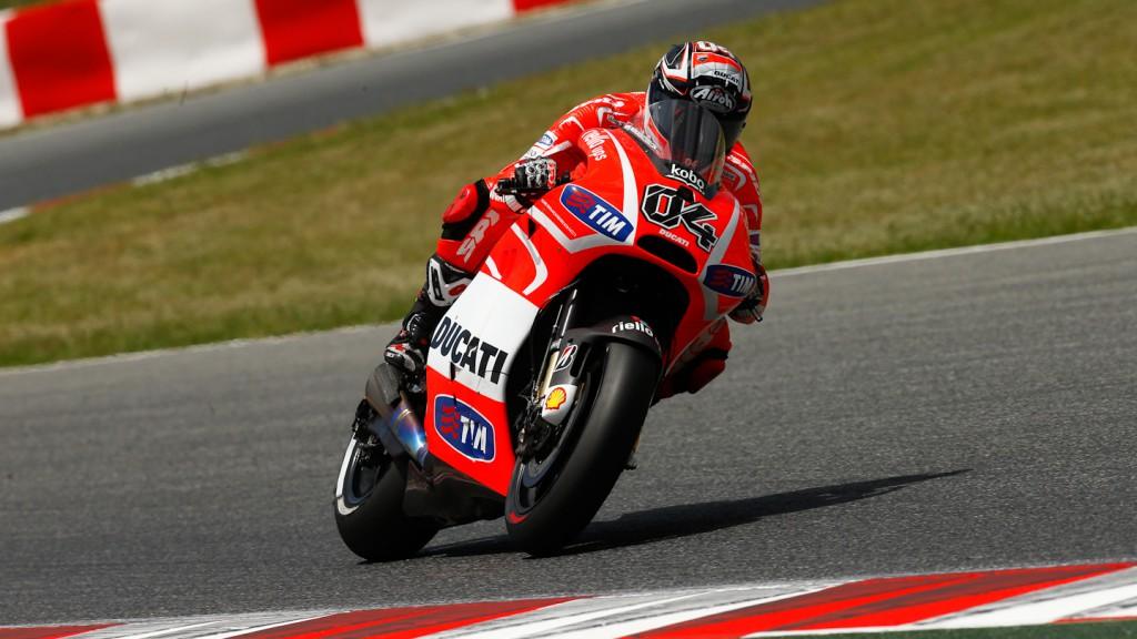 Andrea Dovizioso, Ducati Team, Test Catalunya