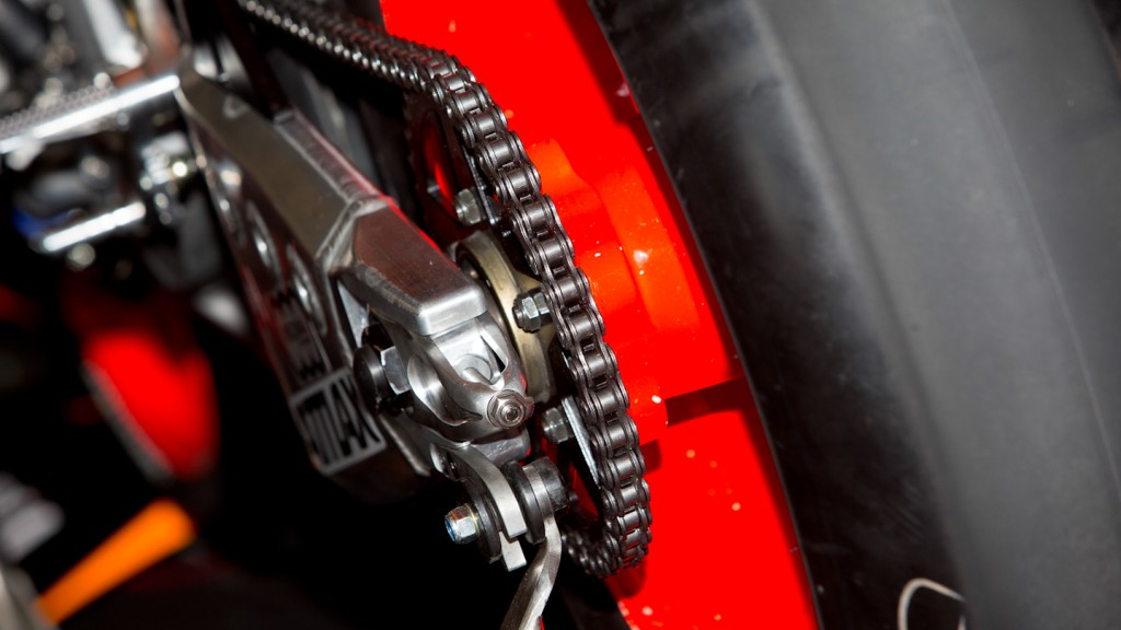 FTR Moto chain and rear sprocket , NGM Mobile Forward Racing, Test Catalunya
