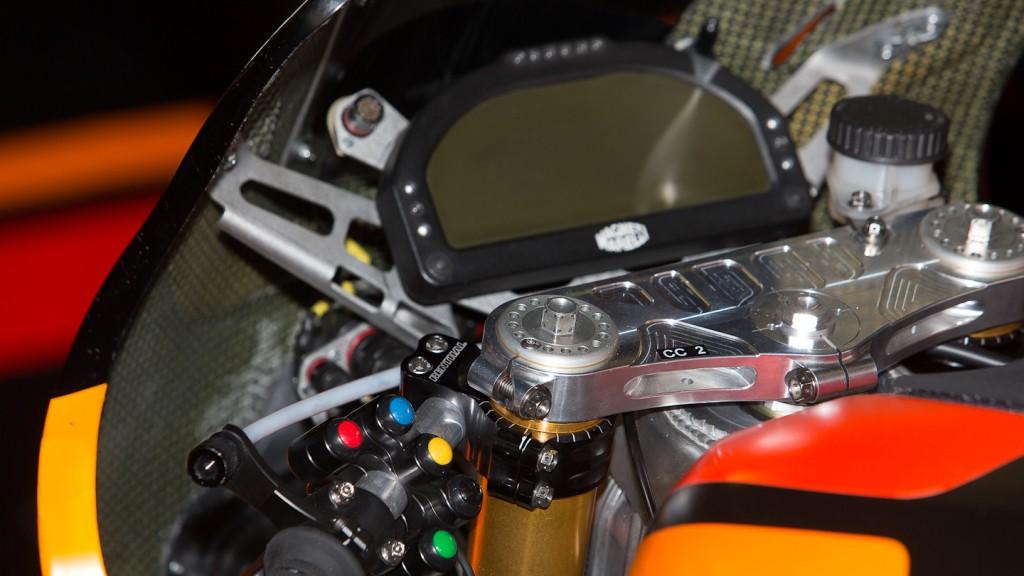 FTR Moto dashboard, NGM Mobile Forward Racing, Test Catalunya