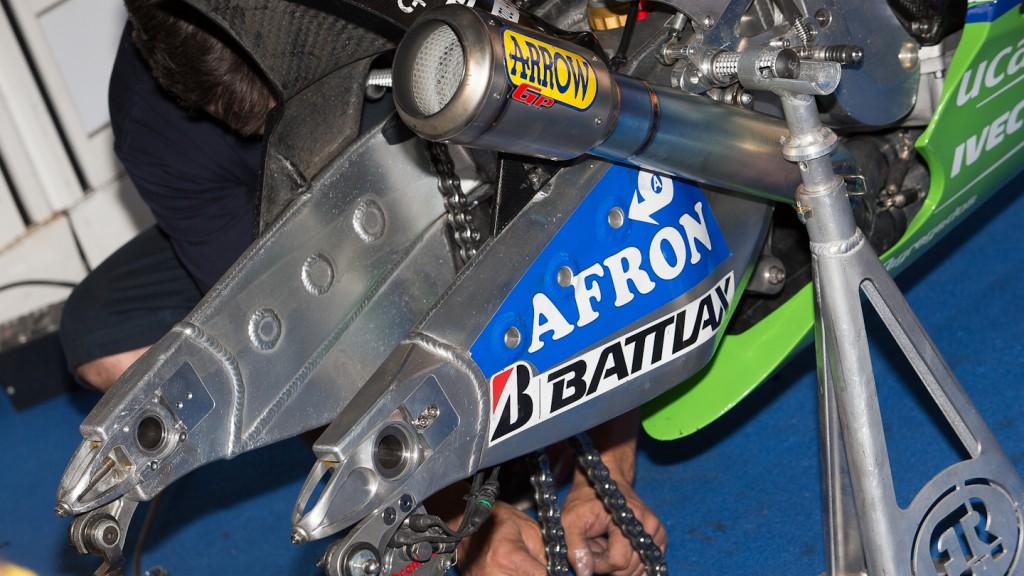 FTR Moto swingarm, Avintia Blusens, Test Catalunya