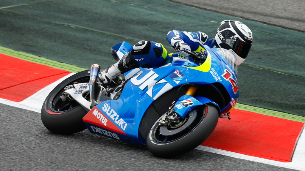 Randy De Puniet, Suzuki MotoGP Test Catalunya