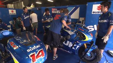 Suzuki takes to the track at Circuit de Catalunya