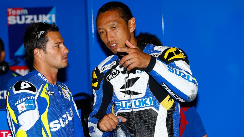De Puniet, Aoki, Suzuki MotoGP Test Catalunya