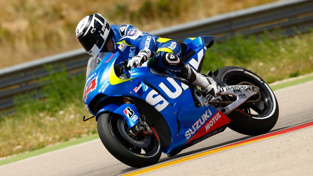 Randy de Puniet, Suzuki. Aragon Test