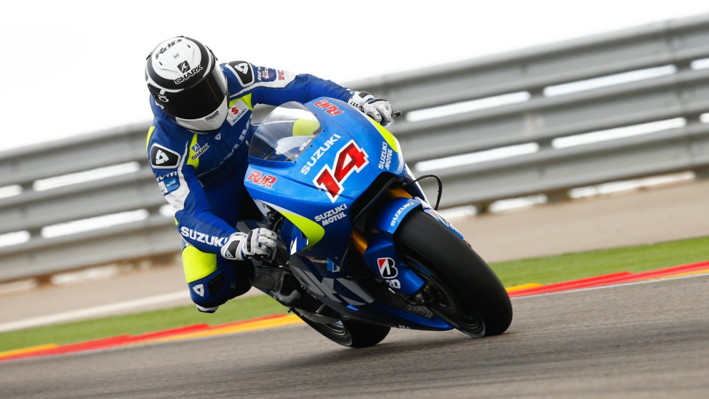 Randy de Puniet, Suzuki, Aragon Test