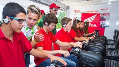 HRC Riders visits Honda Institut de Seguretat