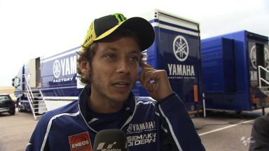 Rossi more upbeat at Aragon test