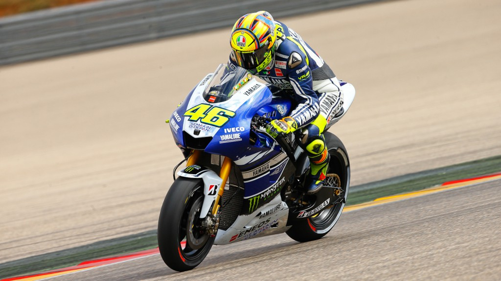 Valentino Rossi, Yamaha Factory Racing, Aragon Test