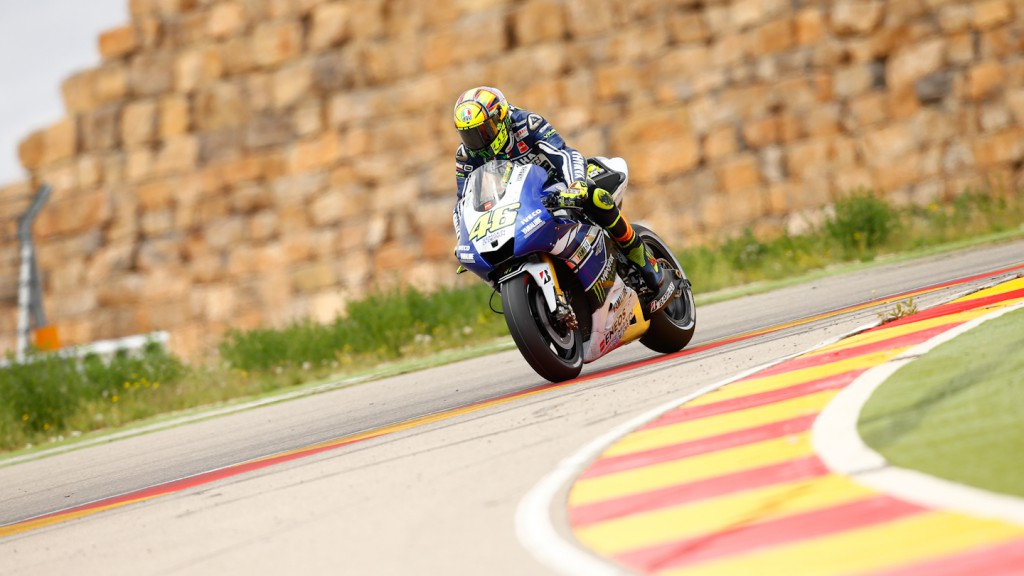 Valentino Rossi, Yamaha Factory Racing, Aragon Test