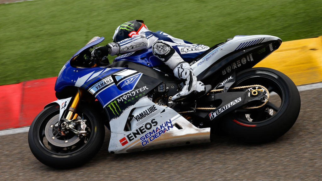 Jorge Lorenzo, Yamaha Factory Racing, Aragon Test