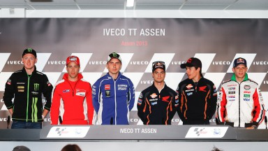 Smith, Dovizioso, Lorenzo, Pedrosa, Marquez, Bradl, Iveco TT Assen Press Conference