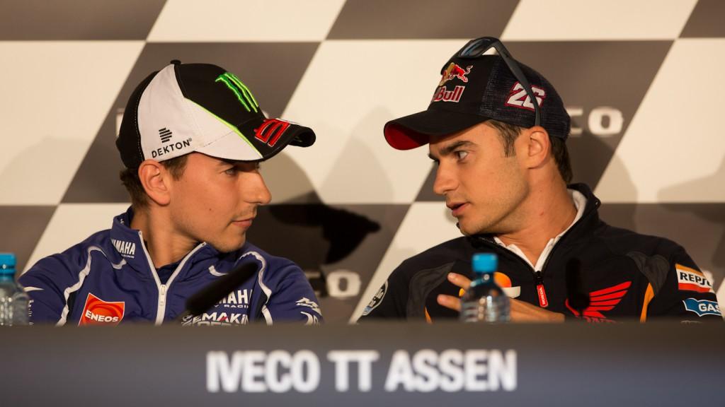 Lorenzo, Pedrosa, Yamaha Factory Racing, Repsol Honda Team, Iveco TT Assen Press Conference