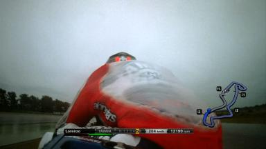 Exclusive OnBoard: Lorenzo's FP2 crash at Assen