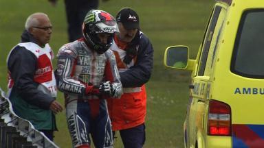 Lorenzo breaks collarbone in heavy Assen crash