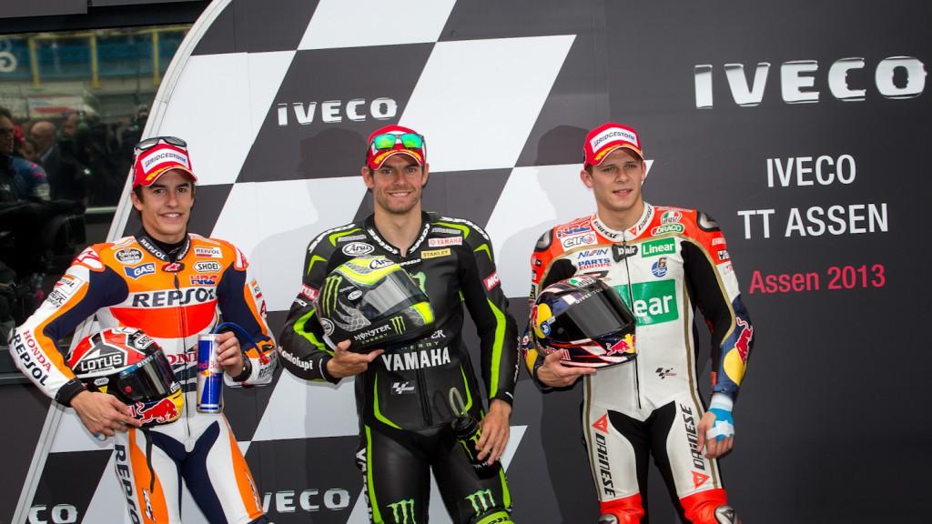 Marquez, Crutchlow, Bradl, Repsol Honda Team, Monster Yamaha Tech 3, LCR Honda MotoGP, Assen Q2