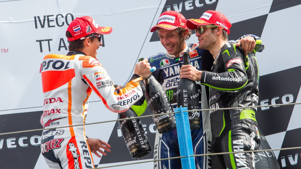Marquez, Rossi, Crutchlow, Repsol Honda Team, Yamaha Factory Racing, Monster Yamaha Tech 3, Assen RAC