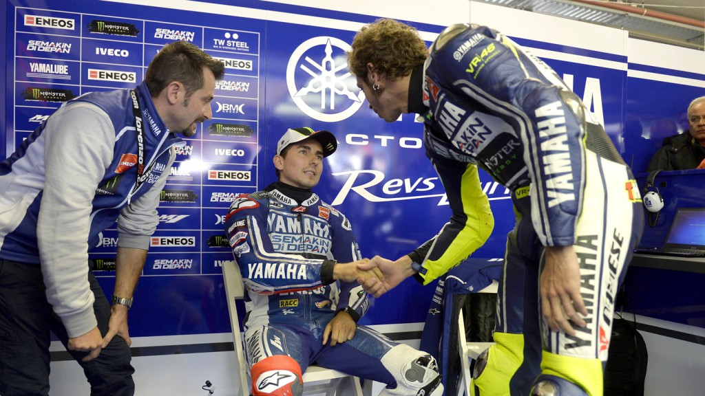 Lorenzo, Rossi, Yamaha FActory Racing, Assen WUP
