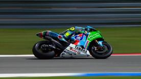 Fiat Yamaha's Valentino Rossi emerged on top after another great battle with World Championship rival Casey Stoner this afternoon in a superb MotoGP race at the A-Style TT Assen.