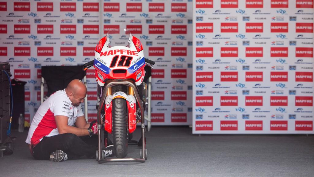 Mapfre Aspar Team Moto2 garage, MotoGP™ Test - Termas de Rio Hondo, Argentina