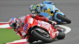 The Misano MotoGP visit ended with Ducati Marlboro's Casey Stoner extending his World Championship advantage to 85 points with a plus four second victory at the Gran Premio Cinzano di San Marino e della Riviera di Rimini.