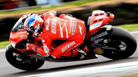Casey Stoner repeated his 2007 home victory at Phillip Island, ahead of two rivals with World Championship pedigree.