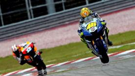 Valentino Rossi took his 2008 win tally up to nine with a triumph in Sepang.