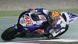 2007 MotoGP World Champion Casey Stoner began his title defence in style with victory in the Commercialbank Grand Prix of Qatar –the first ever MotoGP night race- ahead of Spaniards Jorge Lorenzo and Dani Pedrosa.