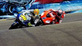 World Championship leader Valentino Rossi put an end to Casey Stoner´s victory run with a win at the Red Bull U.S. Grand Prix.